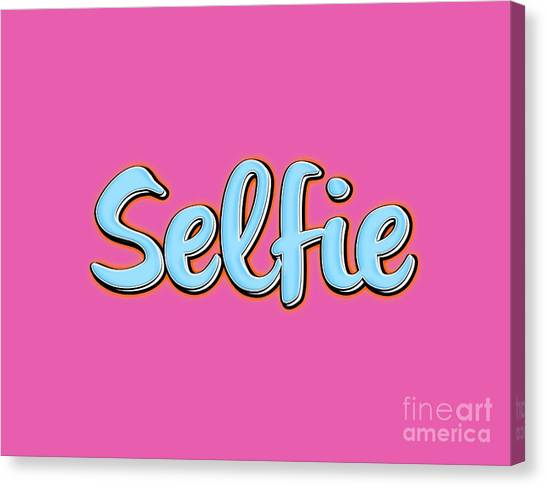 Tee Shirt Canvas Print - Selfie Tee by Edward Fielding