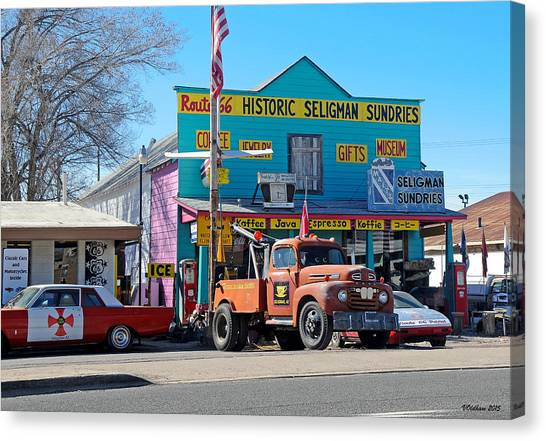 Seligman Sundries On Historic Route 66 Canvas Print