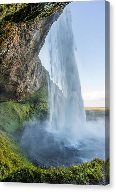 Canvas Print featuring the photograph Seljalandsfoss by James Billings
