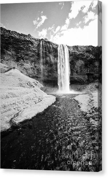 Seljalandsfoss Canvas Print - Seljalandsfoss Waterfall And Seljalandsa River Iceland by Joe Fox