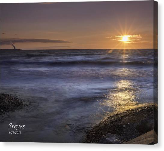Nuclear Plants Canvas Print - Selkirk Shores Sunset by Scott Reyes