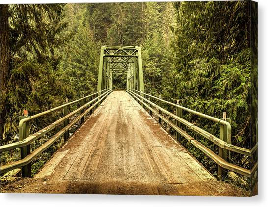 Selway River Bridge Canvas Print