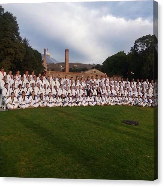 Taekwondo Canvas Print - #seminariodeinstructoresyaspirantes by Abraham Sorkin