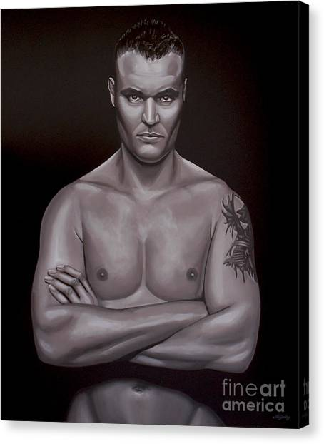 Gym Canvas Print - Semmy Schilt by Paul Meijering