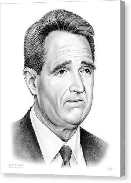Political Canvas Print - Sen Jeff Flake by Greg Joens