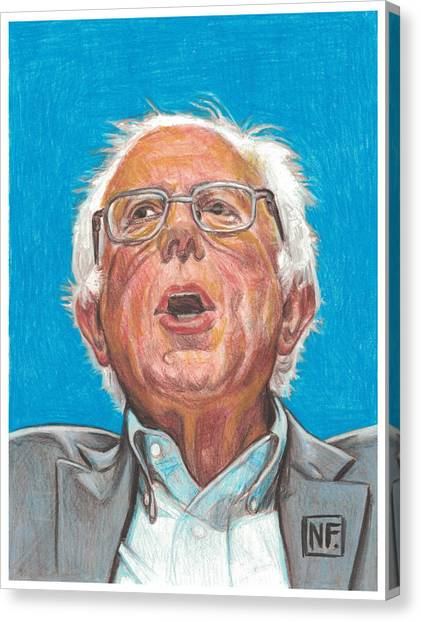Bernie Sanders Canvas Print - Senator Bernie Sanders  Candidate For The Democratic Nomination For President Of The United States by Neil Feigeles