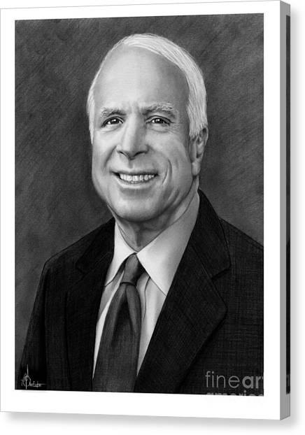 John Mccain Canvas Print - Senator John Mccain by Murphy Elliott
