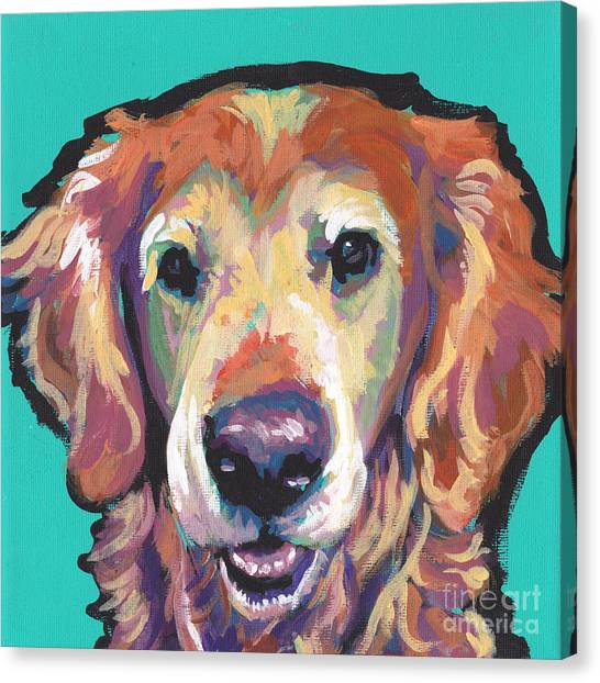 Golden Retrievers Canvas Print - Senior And Golden by Lea S