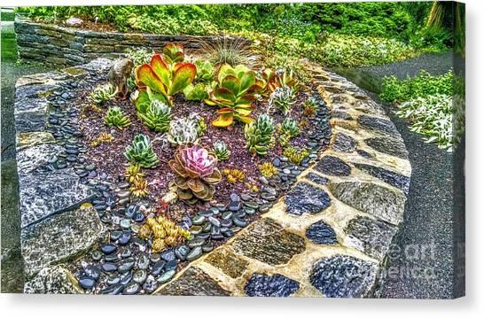 Sensory Garden At Laurelwood Arboretum Canvas Print