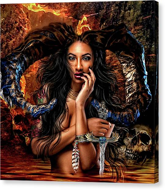 Fantasy Cave Canvas Print - Sensual Cave Dweller by G Berry
