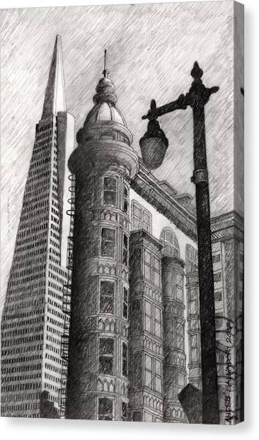 Sentinel Building Canvas Print