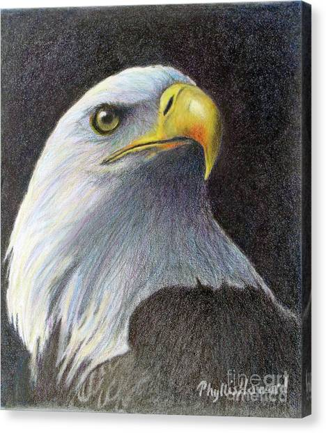 Canvas Print featuring the painting Sentinel by Phyllis Howard