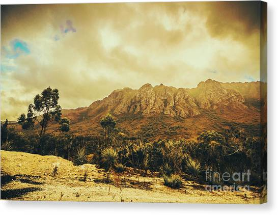 Mountain West Canvas Print - Sentinel Range Tasmania by Jorgo Photography - Wall Art Gallery
