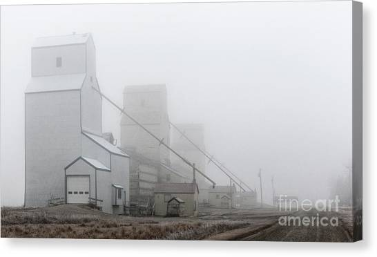 Sentinels In The Fog Canvas Print