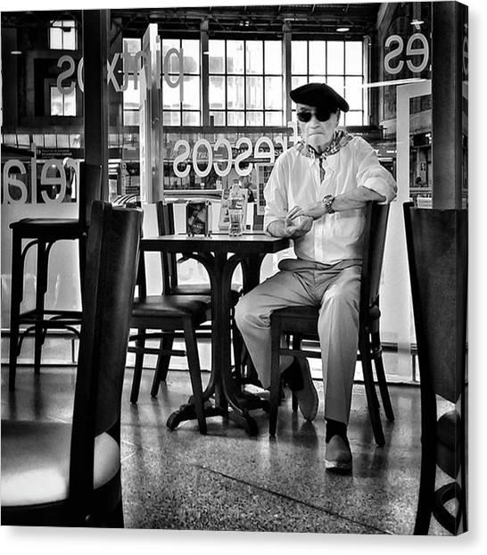 Bar Canvas Print - Señor #bilbao #streetphotography by Rafa Rivas
