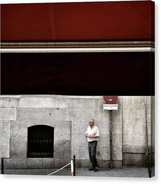 Men Canvas Print - Señor #man #señor  #street  #city by Rafa Rivas