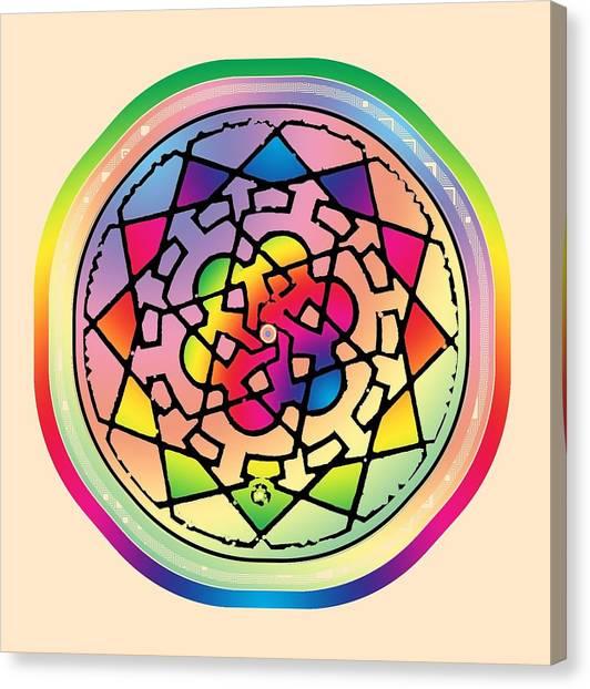 Sephardic Medieval Mandala Canvas Print
