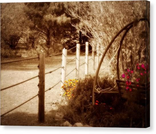 Sepia Garden Canvas Print