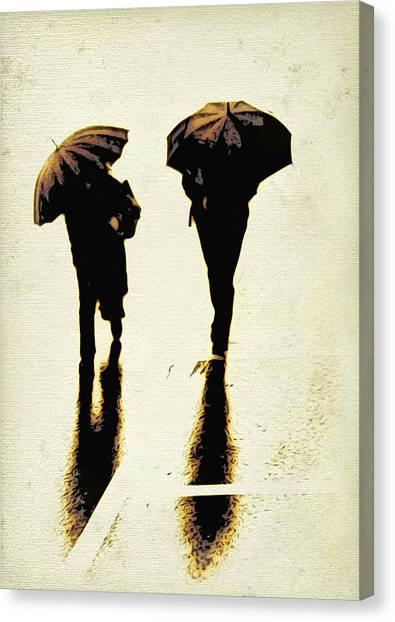 Sepia Rain Canvas Print