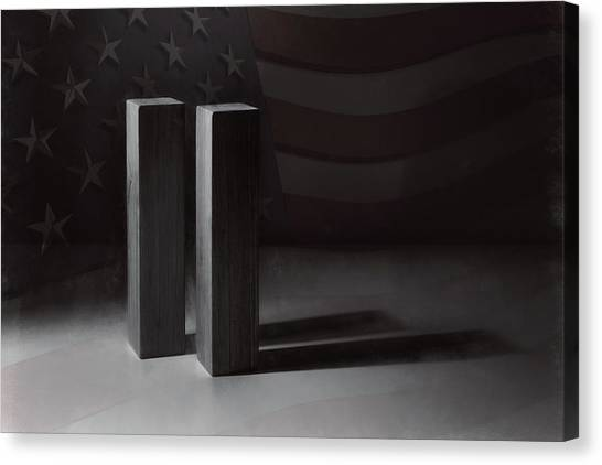Stars And Stripes Canvas Print - September 11, 2001 -  Never Forget by Scott Norris