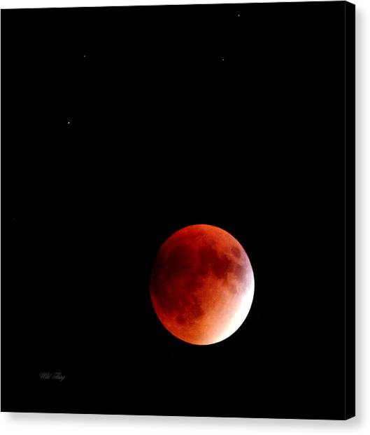 September Bloodmoon 2015 Canvas Print
