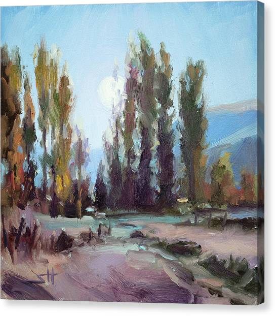Impressionism Canvas Print - September Moon by Steve Henderson