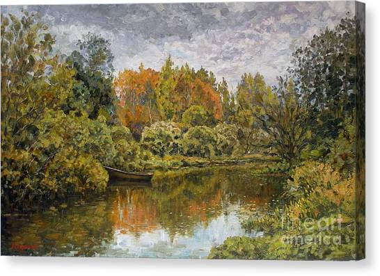 September. On The River Canvas Print by Andrey Soldatenko