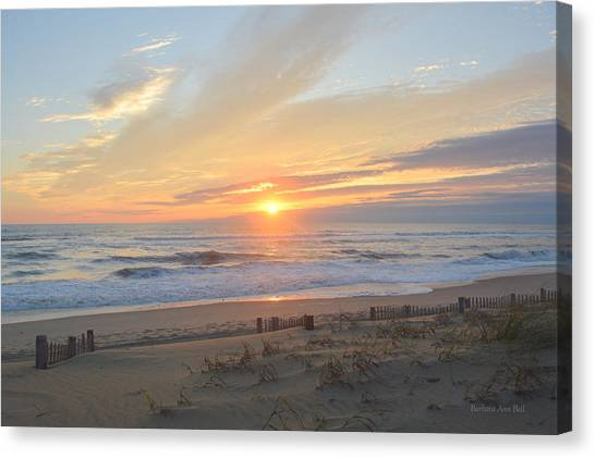 Canvas Print featuring the photograph September Sunrise  30 by Barbara Ann Bell