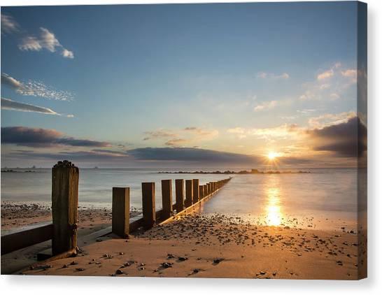 September Sunrise At Aberdeen Beach Canvas Print
