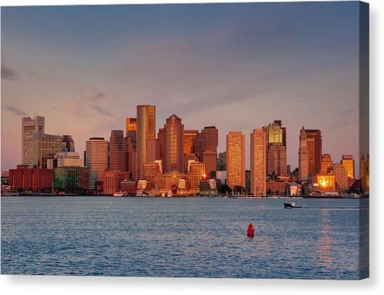 September Sunrise Over Boston, Boston, Massachusetts Canvas Print
