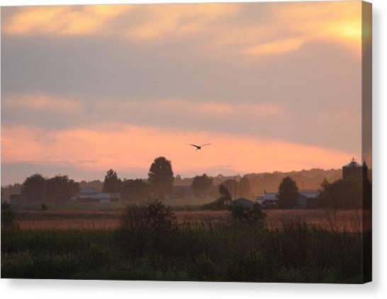 September Sunset Canvas Print by Diane Merkle