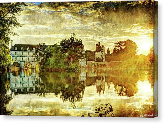 September Sunset In Chenonceau - Vintage Version Canvas Print