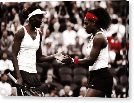 Serena Williams Canvas Print - Serena And Venus Williams by Brian Reaves