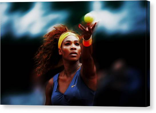 Maria Sharapova Canvas Print - Serena Deep Focus by Brian Reaves