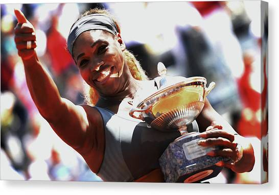 Maria Sharapova Canvas Print - Serena Doing It Once Again by Brian Reaves