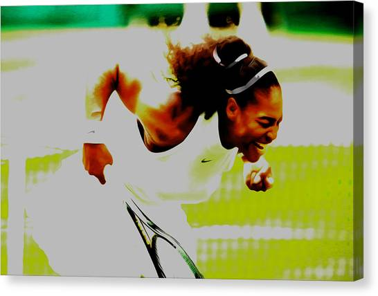 Maria Sharapova Canvas Print - Serena Feeling It by Brian Reaves