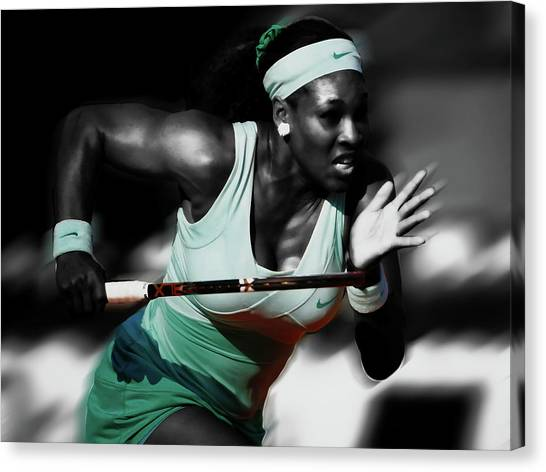 Maria Sharapova Canvas Print - Serena Getting At It by Brian Reaves