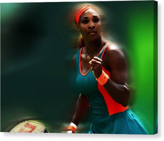 Maria Sharapova Canvas Print - Serena Getting It Done by Brian Reaves