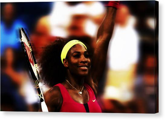 Maria Sharapova Canvas Print - Serena In Victory by Brian Reaves