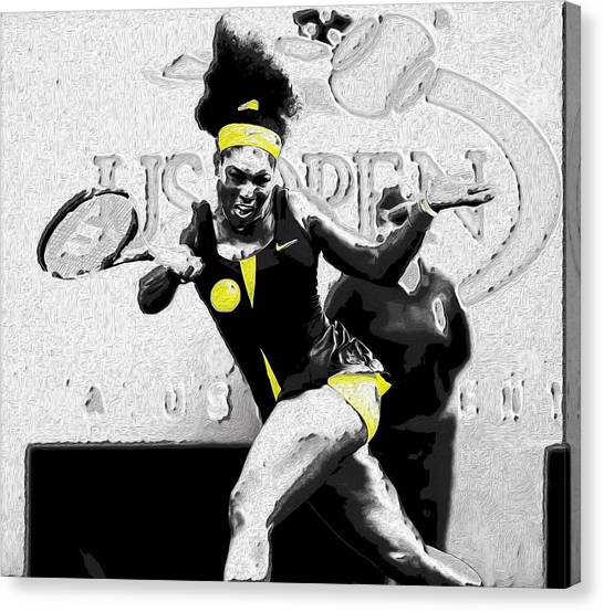 Venus Williams Canvas Print - Serena Legacy Etched In Stone by Brian Reaves