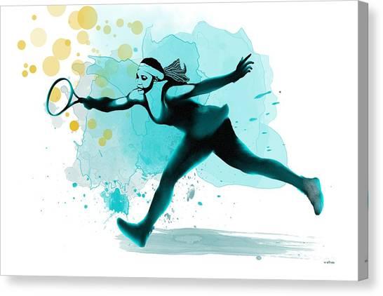 Serena Williams Canvas Print - Serena by Marlene Watson