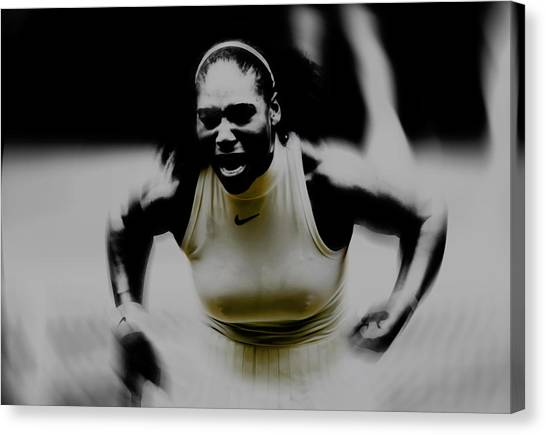 Maria Sharapova Canvas Print - Serena On Fire by Brian Reaves