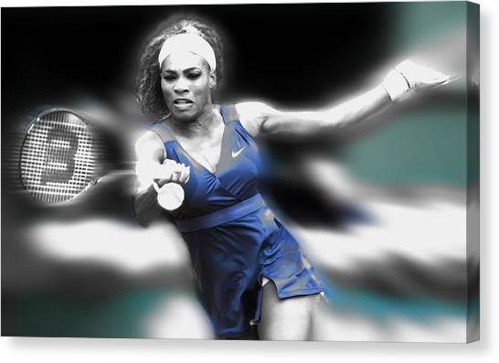 Venus Williams Canvas Print - Serena On The Move by Brian Reaves
