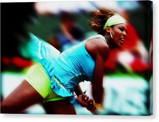 Maria Sharapova Canvas Print - Serena Putting Everything In It by Brian Reaves