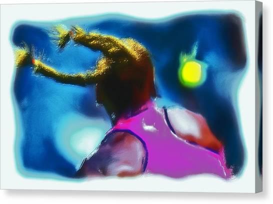 Venus Williams Canvas Print - Serena Smash by Brian Reaves