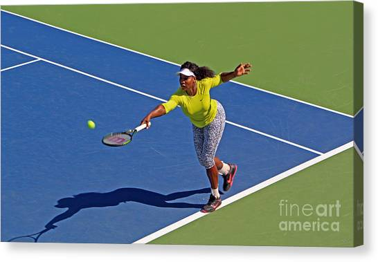Serena Williams Canvas Print - Serena Williams 1 by Nishanth Gopinathan