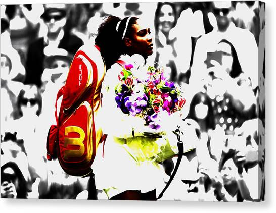 Venus Williams Canvas Print - Serena Williams 2f by Brian Reaves
