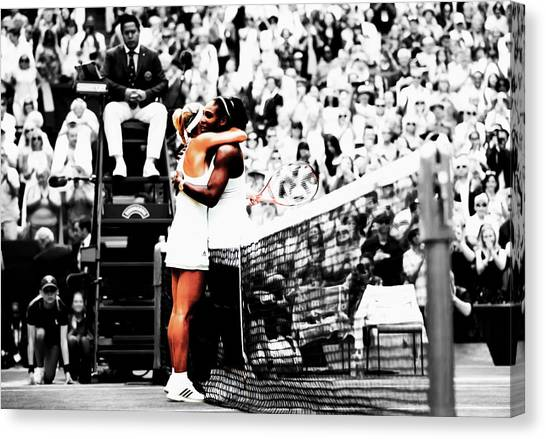 Venus Williams Canvas Print - Serena Williams And Angelique Kerber 1a by Brian Reaves