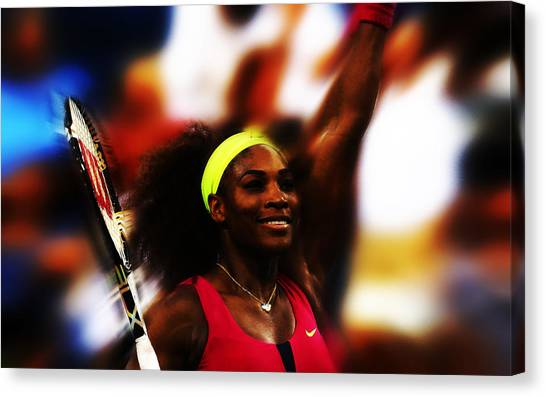 Maria Sharapova Canvas Print - Serena Williams Another Record Set by Brian Reaves