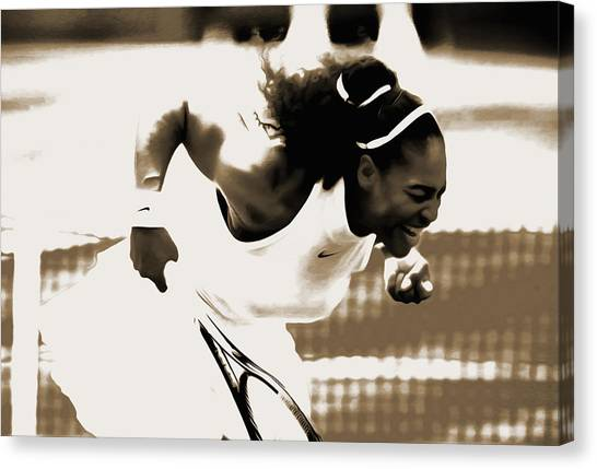Maria Sharapova Canvas Print - Serena Williams Another Victory by Brian Reaves